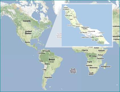 Curaçao Karte